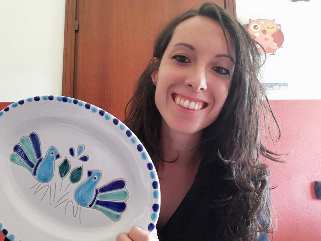 Michela Spotti con il piatto Pavoncella
